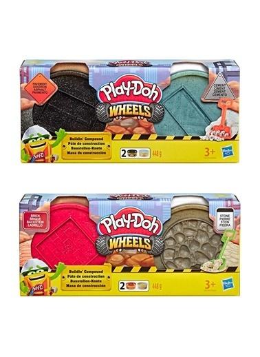 Hasbro Play-Doh İnşaat Hamuru - Tuğla Ve Taş & Çimento Ve Asfalt Renkli